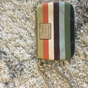 COACH wristlet, colorful